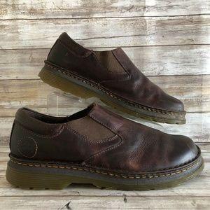 Dr Martens Orson 11M Brown Leather Slip On Loafer